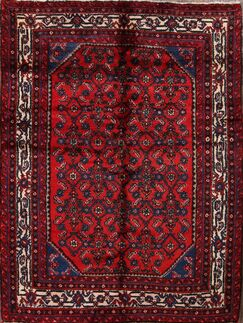 One-of-a-Kind Hossainabad Hamadan Persian Hand-Knotted 4'9