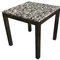 Lakes Parsons End Table Table Top Color: Castle, Table Base Color: Natural Wood