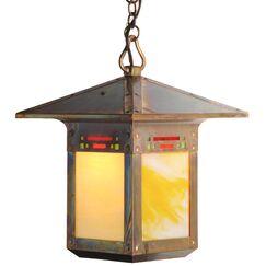 Pullman 1-Light Lantern Pendant Shade Color: Gold Iridescent, Finish: Textured Black, Size: 53