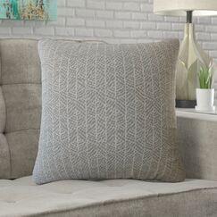 Doe Striped Cotton Pillow Size: 24
