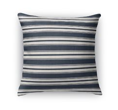 Classic Stripe Largescale Throw Pillow Size: 16