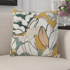 Kastelholm Floral Luxury Pillow Size: 18
