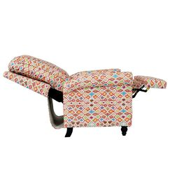 Whitehaven Manual Recliner Upholstery Color: Multi-red Maze Pattern