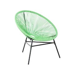 Pedro Papasan Chair Arm Color: Green