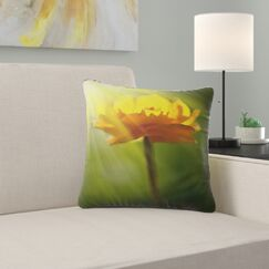 Large Flower Pillow Size: 26