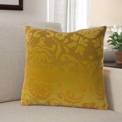 Brownsburg Damask Cotton Throw Pillow Size: 18