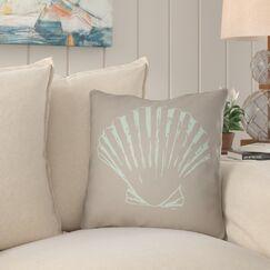 Brookline Shells II Indoor/Outdoor Throw Pillow Size: 20