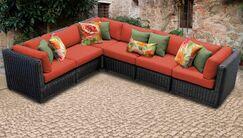 Eldredge Sofa With Cushions Color: Tangerine