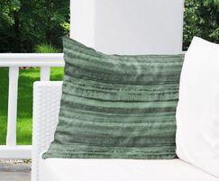 Washy Watercolor Stripe Indoor/Outdoor Euro Color: Green