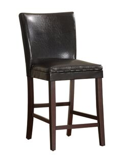 Hawn Upholstered Bar Stool Upholstery: Black