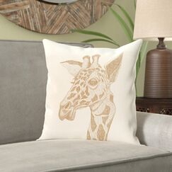 Melvin Throw Pillow Color: Ivory, Size: 26