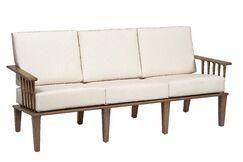 Van Dyke Sofa with Cushions Fabric: Brisa Distressed Charcoal
