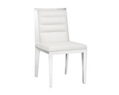 Ikon Upholstered Dining Chair (Set of 2) Upholstery Color: White