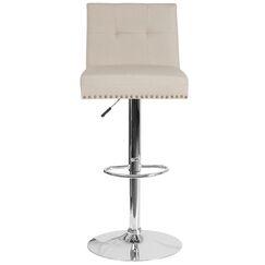 Blanco Adjustable Height Bar Stool Upholstery: Beige