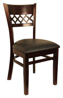 Lattice Back Solid Wood Dining Chair Frame Color: Dark Walnut