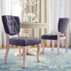 Wachtel Upholstered Dining Chair Upholstery Color: Gray
