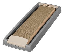 Randi Cat Scratching Board with Tray Color: Gray