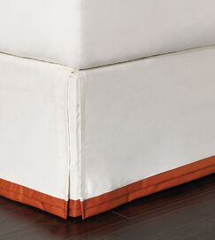 Indira Dean Parchment Bed Skirt Size: Full