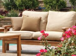 Monterey Deep Seating Loveseat with Cushions Fabric: Camel