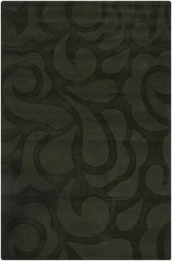 Stehle Black Floral Area Rug Rug Size: 5' x 7'6