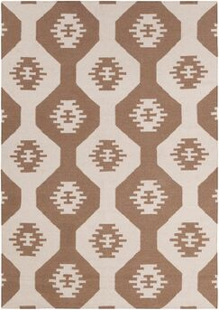 Velasquez Brown Abstract Rug Rug Size: 5' x 7'