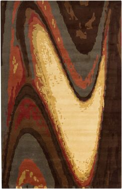 Stickles Hand Woven Brown Area Rug Rug Size: 5'3