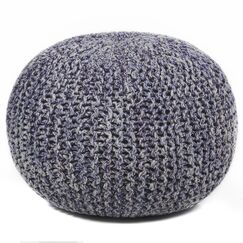 Meknes Pouf Upholstery: Purple / Gray / Cream