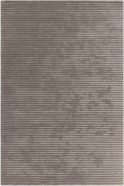 Nathen Textured Striped Taupe Area Rug Rug Size: 7'9