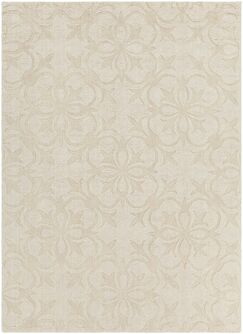 Beazer Patterned Tranditional Cream Area Rug Rug Size: 7' x 10'