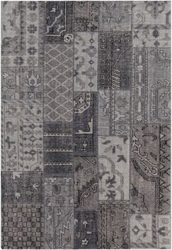 Casselman Patterned Contemporary Gray Area Rug Rug Size: 7'9