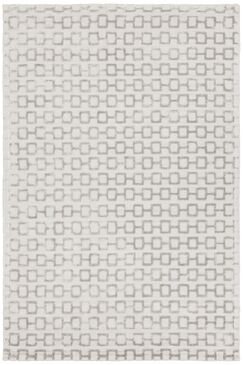 Arctarus Hand-Woven Silver Area Rug Rug Size: 5' x 7'6