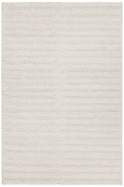 Kite Hand-Woven White Area Rug Rug Size: 7'9