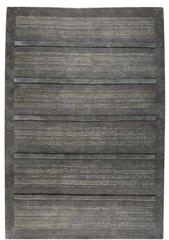 Boston Hand-Knotted Dark Gray Area Rug Rug Size: 4'6