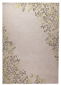 Sina Hand-Tufted Green Area Rug Rug Size: 5'2