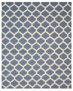 Hand Knotted Blue/Ivory Area Rug Rug Size: Rectangle 10' x 14'