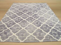 Hand Tufted Gray Area Rug Rug Size: Rectangle 7'9