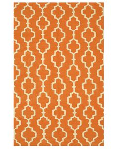Morales Handmade Orange Area Rug Rug Size: 8' x 10'