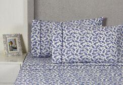 Block Paisley 400 Thread Count Cotton Sheet Set Size: King