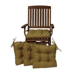 Indoor/Outdoor Adirondack Chair Cushion Fabric: Azul