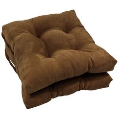 Tufted Dining Chair Cushion Color: Chocolate