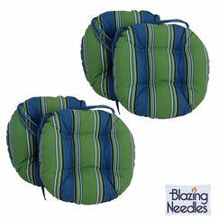 Indoor/Outdoor Patio Chair Cushion Color: Monserrat Sangria