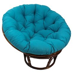 Papasan Cushion Fabric: Eggshell
