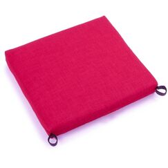 Solid Indoor/Outdoor Adirondack Chair Cushion Fabric: Berry Berry
