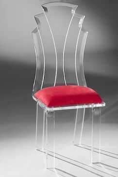 Tiffany Side Chair Upholstery Color: Red