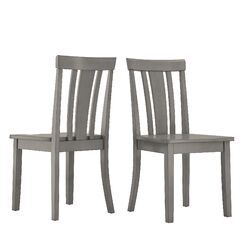 Alverson Solid Wood Dining Chair Color: Antique Gray