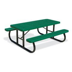 Picnic Table Finish: Blue, Table Size: 64.25