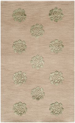 Martha Stewart Medallions Rattan Area Rug Rug Size: Rectangle 5'6