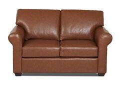 Rachel Leather Loveseat Body Fabric: Steamboat Chestnut