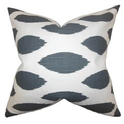 Juliaca Ikat Throw Pillow Color: Gray, Size: 20