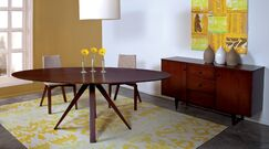 Cullinan Ellipse Solid Wood Dining Table Size: 36